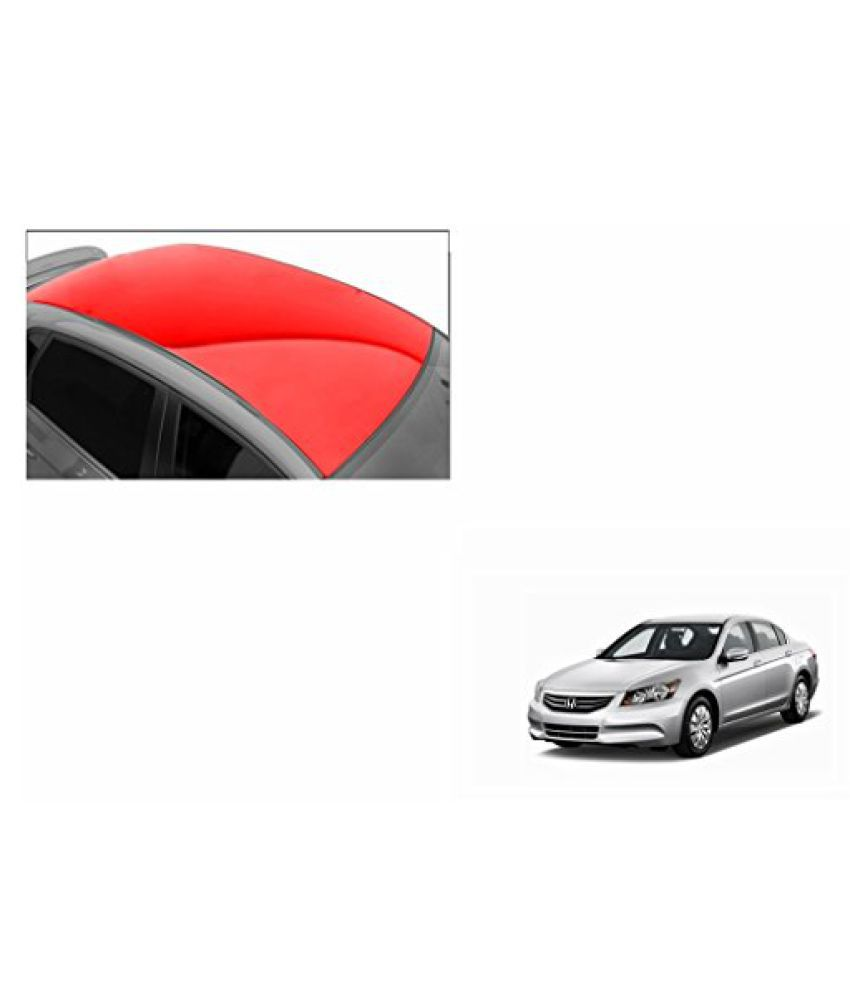 Speedwav Car Roof Glossy Wrap Sheet Red-Honda Accord 2.4 Type 3 (2009-2011)