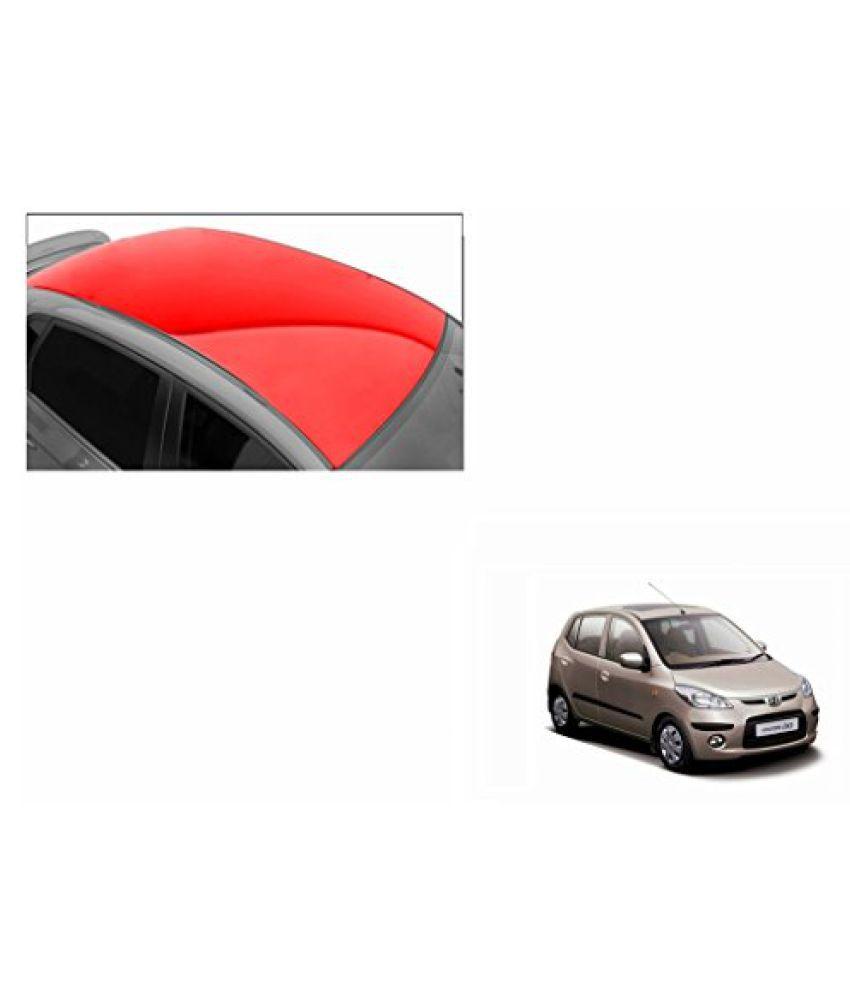 Speedwav Car Roof Glossy Wrap Sheet Red-Hyundai i10 Type 1 (2007-2012)
