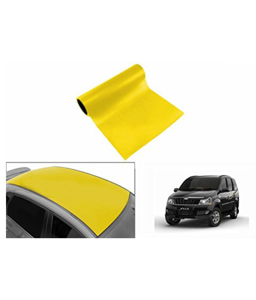 Speedwav Car Roof Glossy Wrap Sheet Neon Yellow-Mahindra Xylo Type 2 (2009-2015)