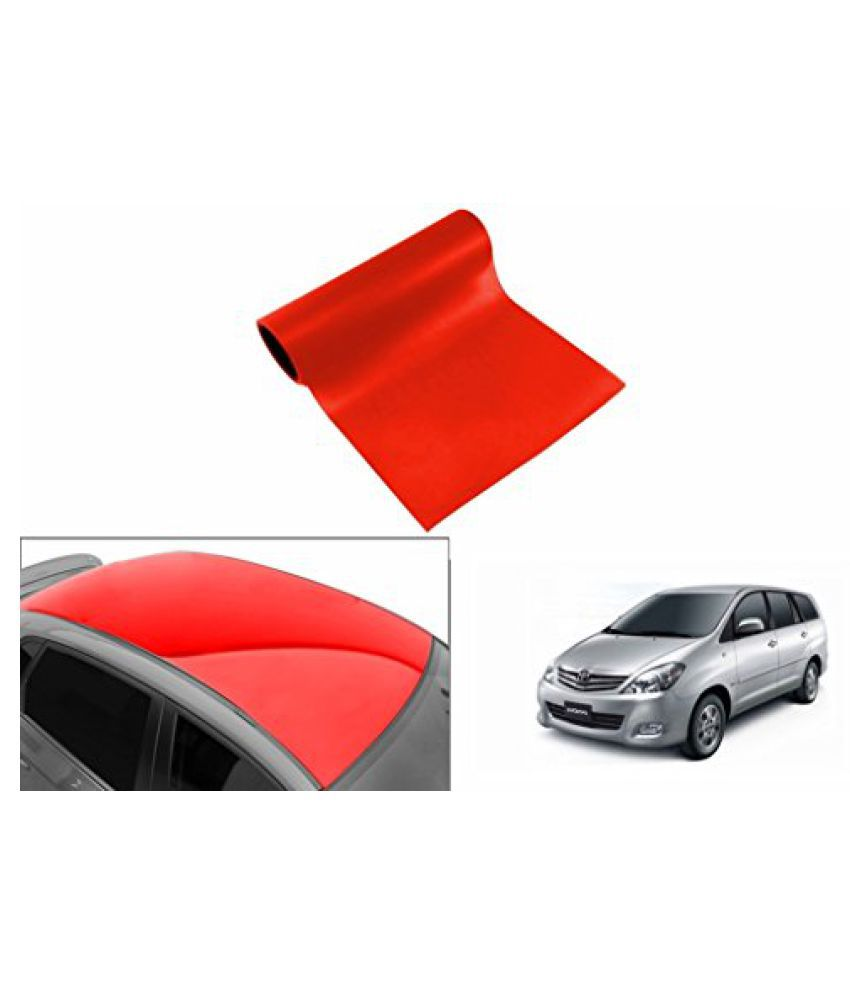 Speedwav Car Roof Glossy Wrap Sheet Red-Toyota Innova Type 1 (2005-2009)