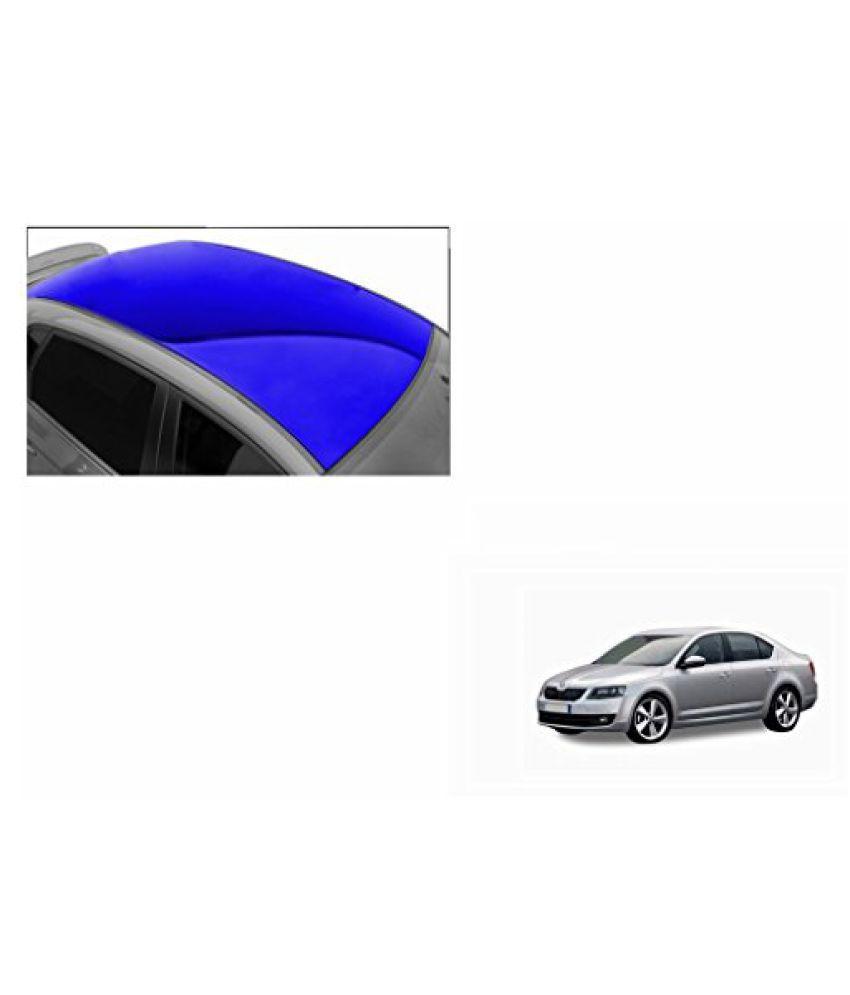 Speedwav Car Roof Glossy Wrap Sheet Blue-Skoda Octavia Type 2 (2013-2015)