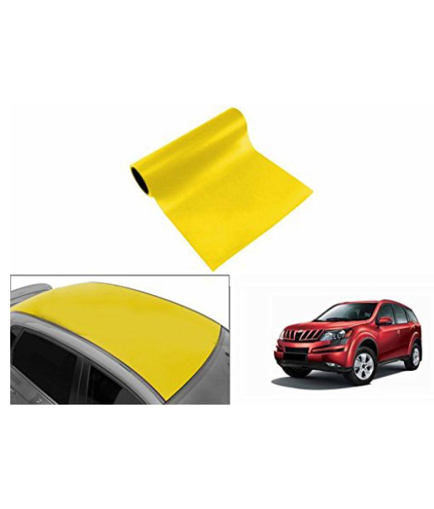 Speedwav Car Roof Glossy Wrap Sheet Neon Yellow-Mahindra XUV 500 Type 1 (2012-2014)