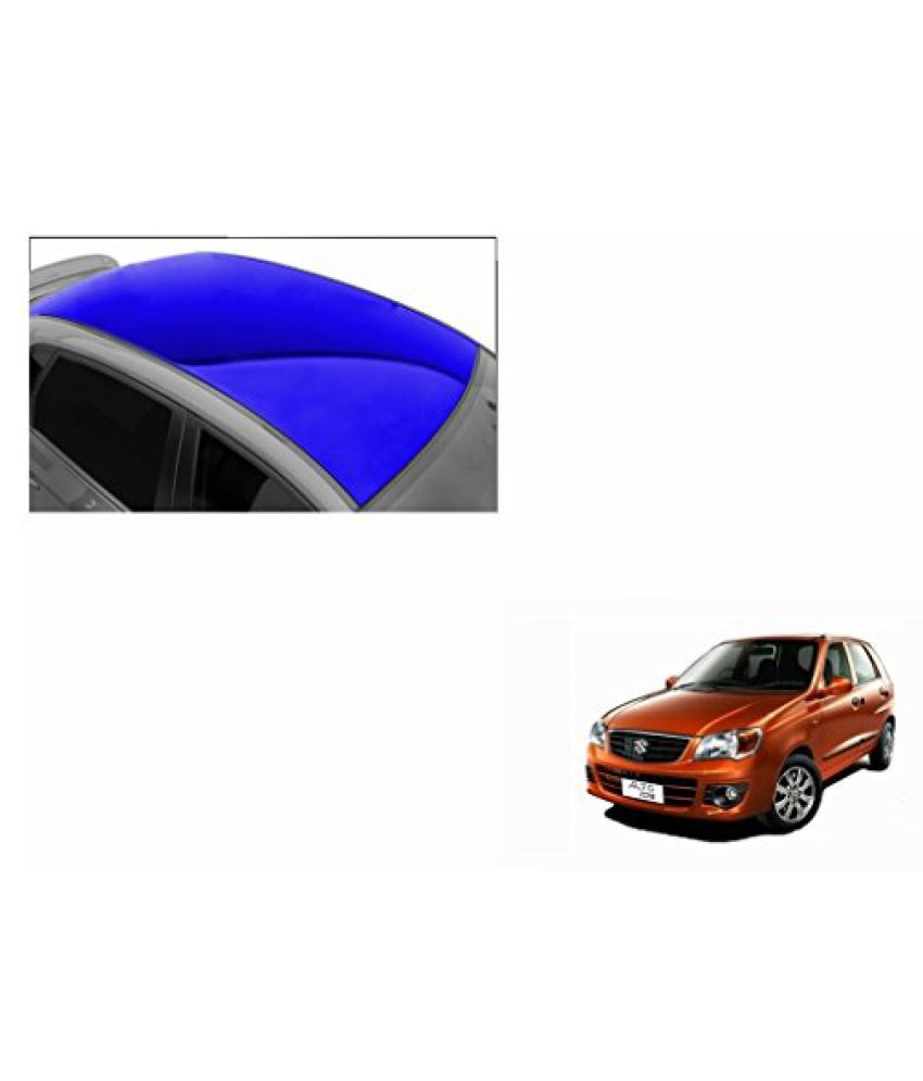Speedwav Car Roof Glossy Wrap Sheet Blue-Maruti Alto K10 Type 1 (2012-2014)