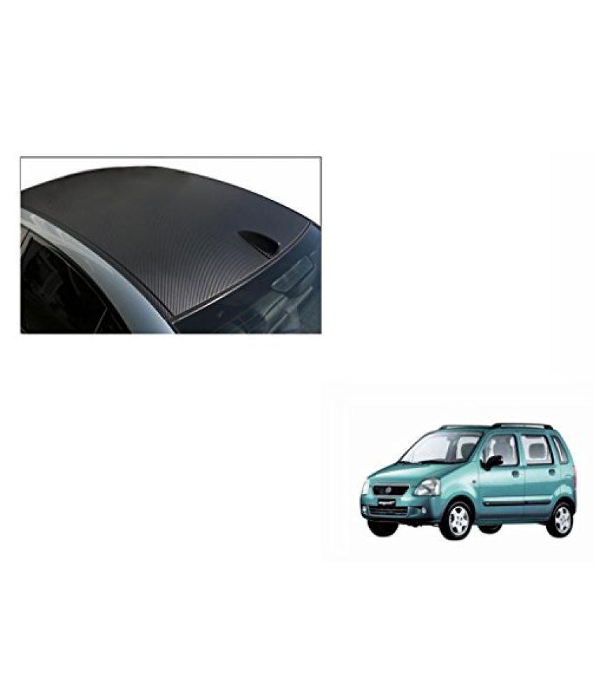Speedwav Car Roof Wrap Sheet Carbon Design Matt Black-Maruti WagonR Type 1 (1998-2003)