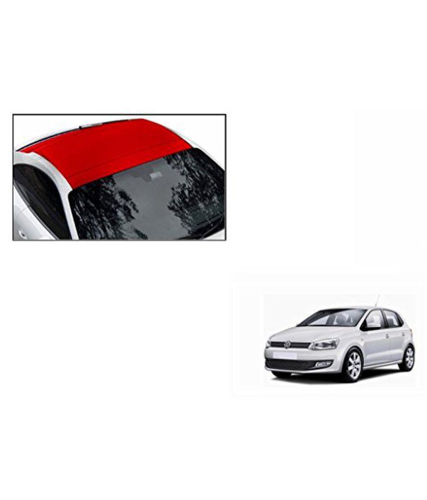 Speedwav Car Roof Wrap Sheet Matt Red-Volkswagen Polo Type 2 (2014-2015)