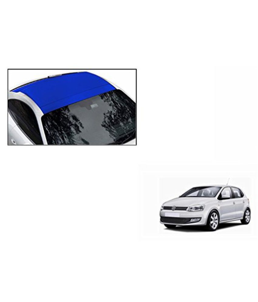 Speedwav Car Roof Wrap Sheet Matt Blue-Volkswagen Polo Type 2 (2014-2015)