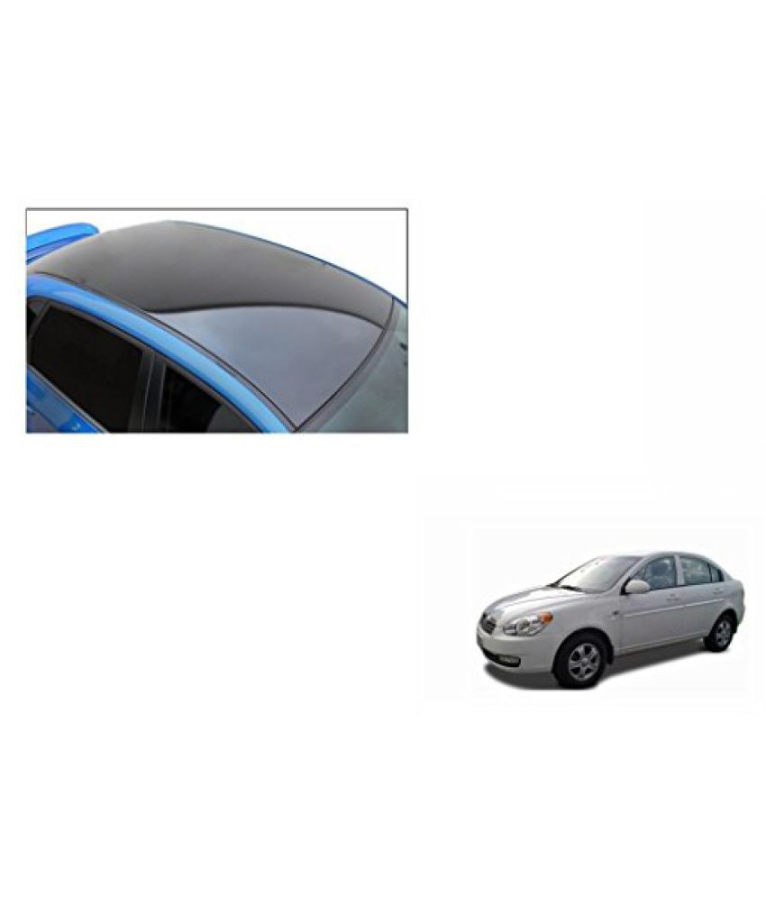 Speedwav Car Roof Wrap Sheet Glossy Black-Hyundai Verna Type 1 (2006-2009)