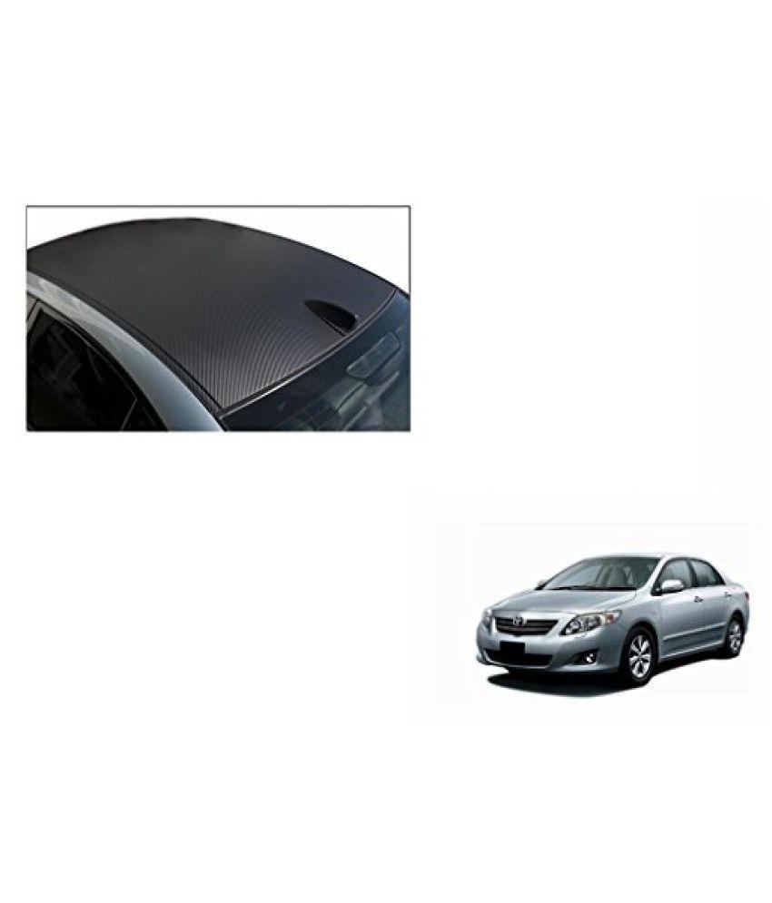 Speedwav Car Roof Wrap Sheet Carbon Design Matt Black-Toyota Corolla Altis Type 2 (2014-2015)