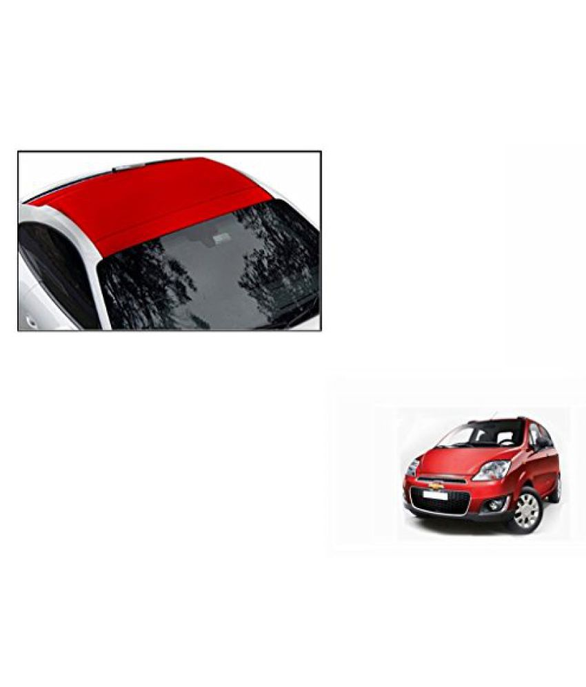 Speedwav Car Roof Wrap Sheet Matt Red-Chevrolet Spark Type 2 (2013-2015)