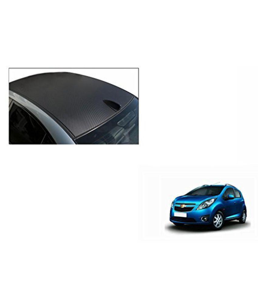 Speedwav Car Roof Wrap Sheet Carbon Design Matt Black-Chevrolet Beat Type 1 (2009-2014)
