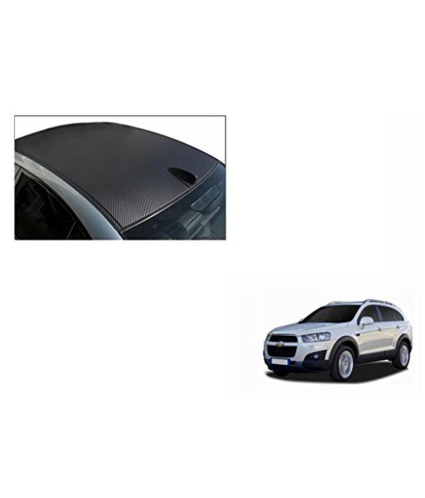 Speedwav Car Roof Wrap Sheet Carbon Design Matt Black-Chevrolet Captiva Type 2 (2013-2015)