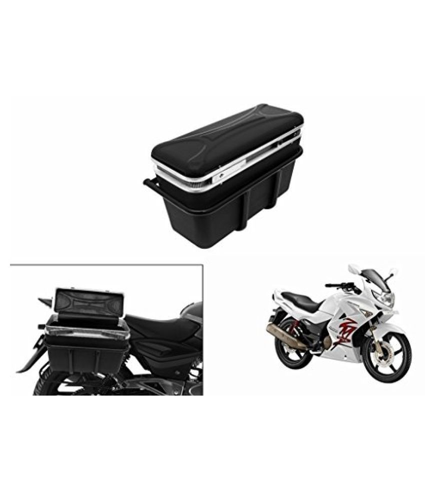 Speedwav DLB-1 Bike Double Lock Luggage Box Black-Hero Karizma ZMR