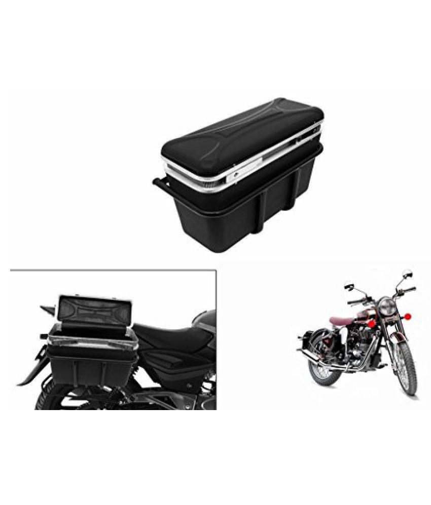 Speedwav DLB-1 Bike Double Lock Luggage Box Black-R Enfield Classic 350