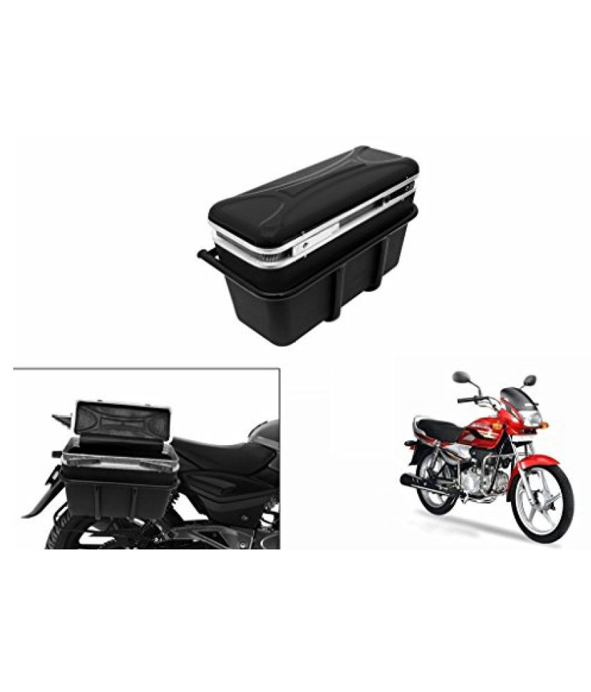 Speedwav DLB-1 Bike Double Lock Luggage Box Black-Hero Super Splendor