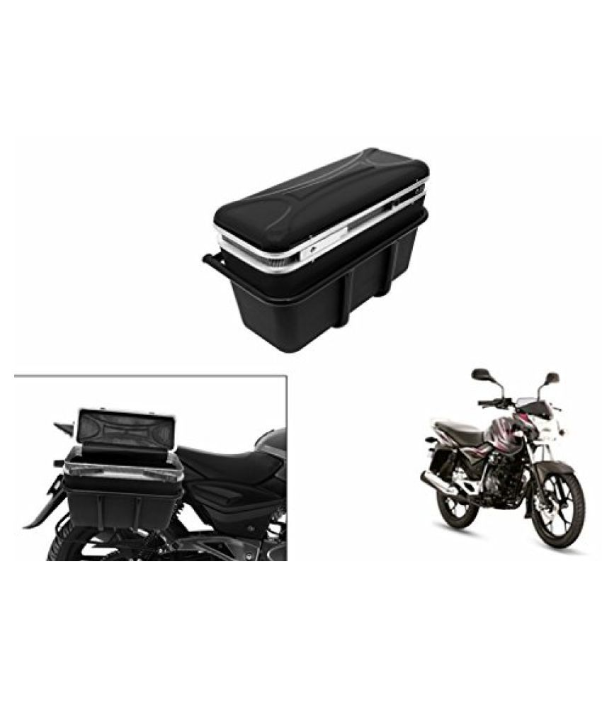 Speedwav DLB-1 Bike Double Lock Luggage Box Black-Bajaj New Discover 125 M DTSi