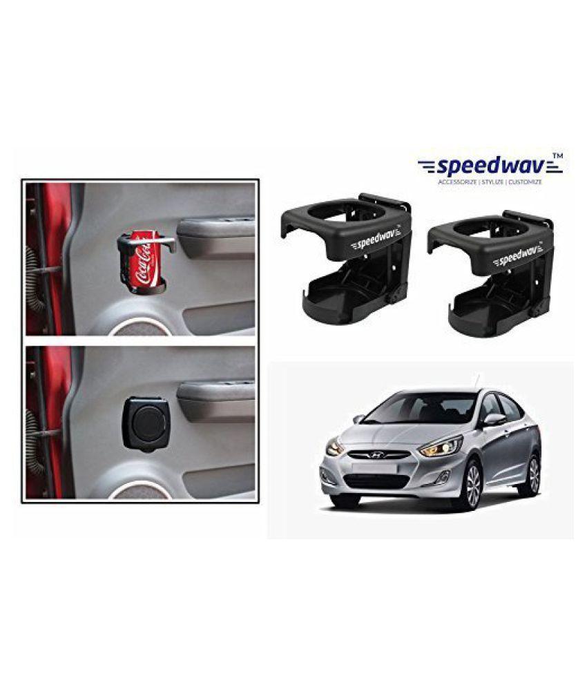 Speedwav Foldable Car Drink/Bottle Holder Set Of 2 BLACK-Hyundai Verna Fluidic
