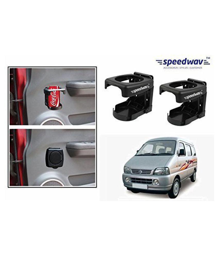 Speedwav Foldable Car Drink/Can/Bottle Holder Set Of 2 BLACK-Maruti Versa