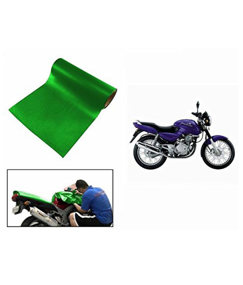 Speedwav Matt Green 3 Meter Bike Wrap Sheet-Pulsar 150 Type 1