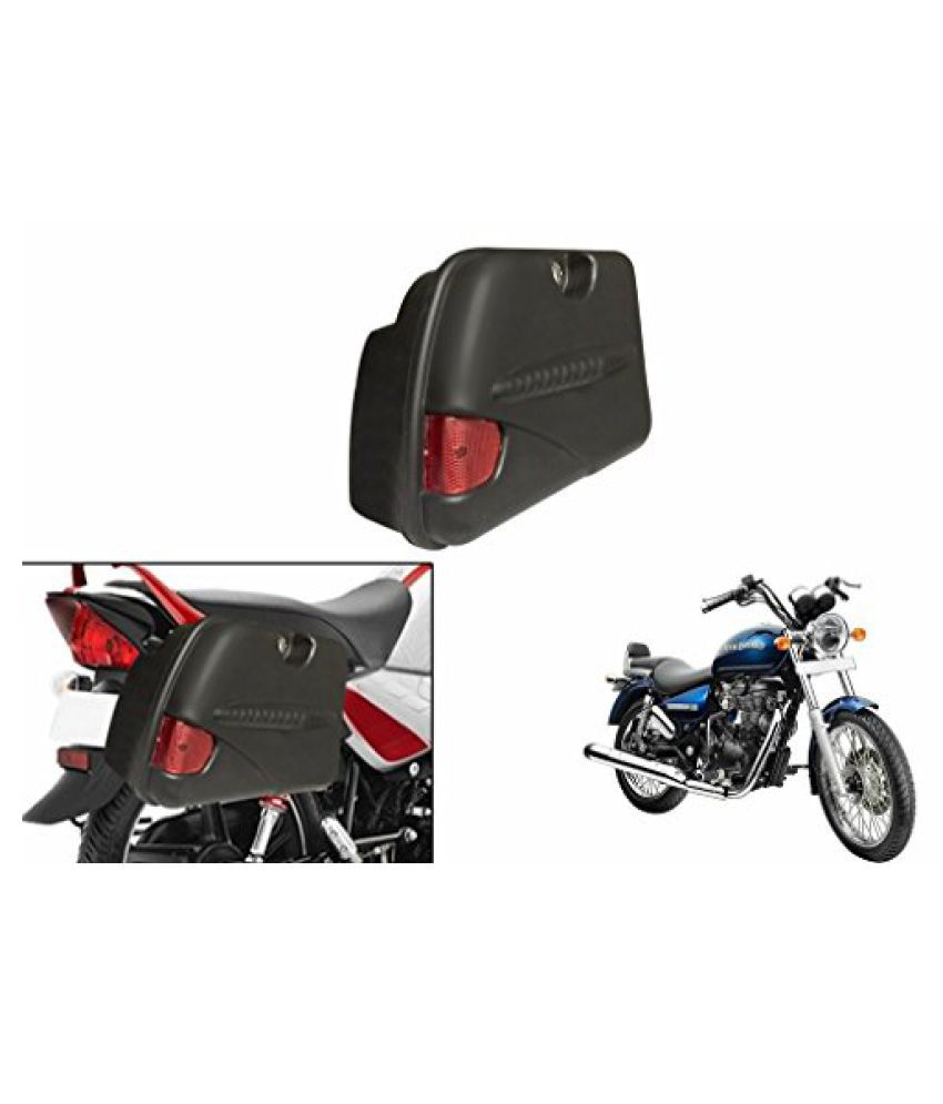 Speedwav SB-R Bike Side Box With Lock & Reflector Black-Royal Enfield Thunderbird 500 Type 2