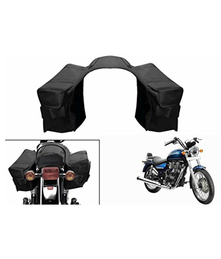 Speedwav Water Proof Bike Twin Saddle Bags Black-Enfield Thunderbird 500 Type 2