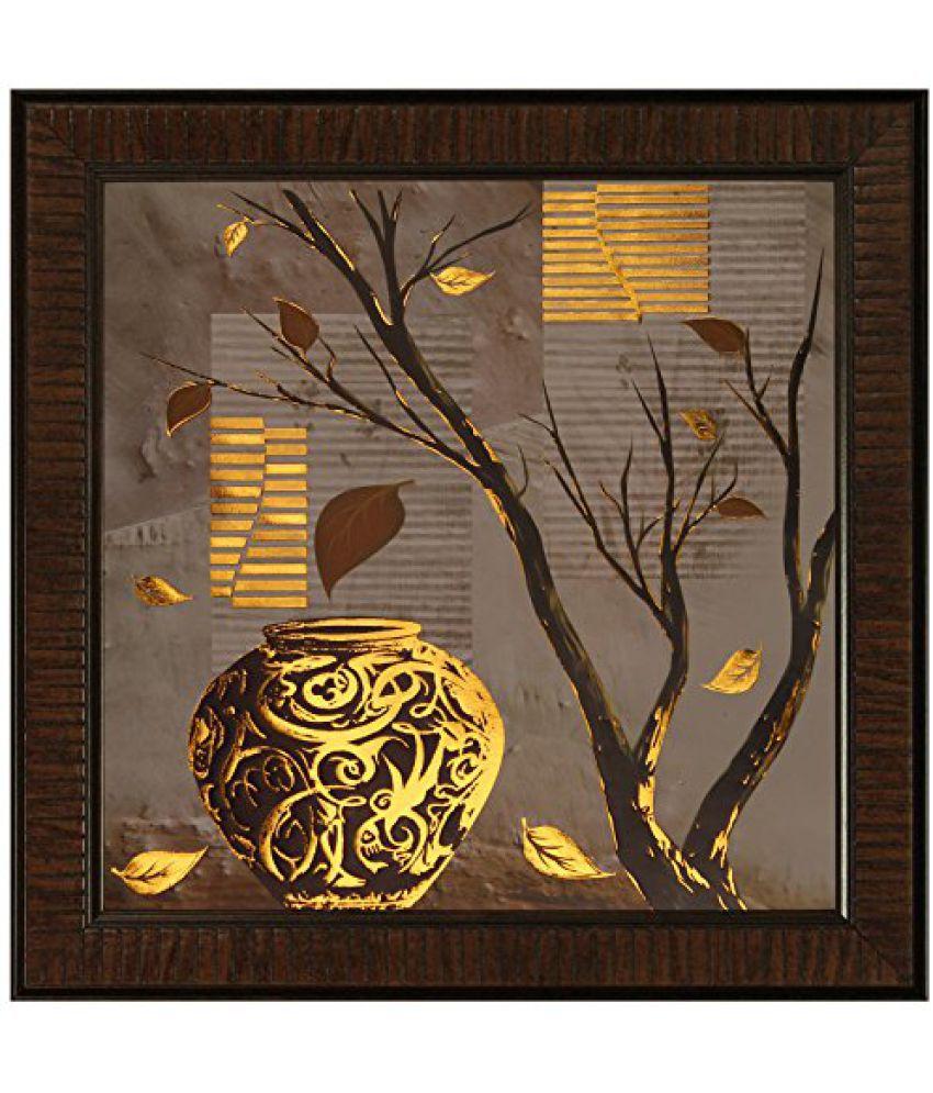 SAF Multi Effect Print Oil Painting (SANFO455, 30 cm x 3 cm x 30 cm)