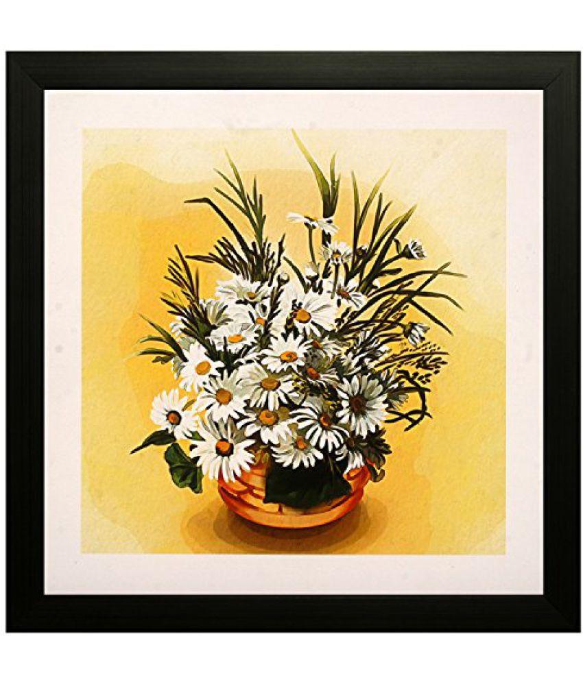 SAF Special Effect Textured Floral Painting (SANFO119, 30 cm x 3 cm x 30 cm)