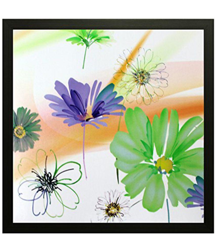SAF Special Effect Textured Floral Painting (SANFO64, 25 cm x 3 cm x 25 cm)