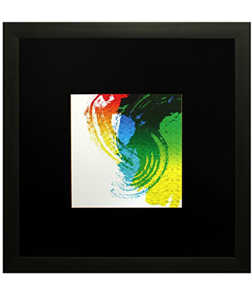 SAF Textured Print with UV Framed Reprint Painting (SANFO598, 25 cm x 3 cm x 25 cm)