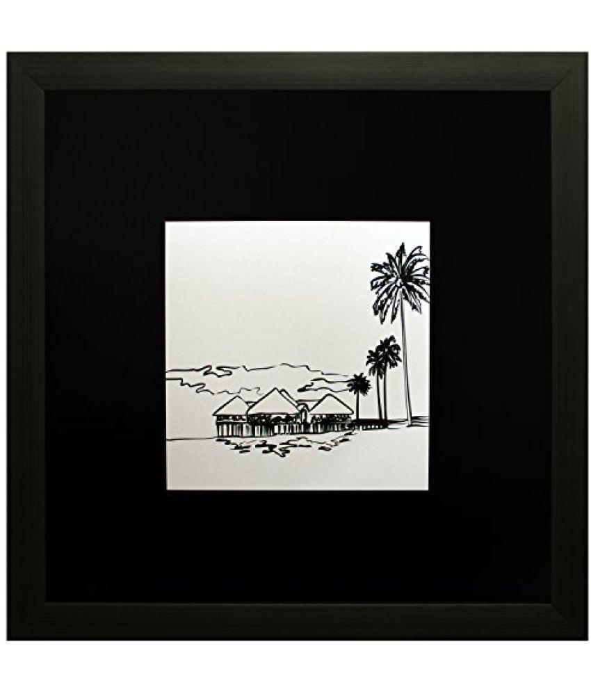 SAF Textured Print with UV Framed Reprint Painting (SANFO581, 25 cm x 3 cm x 25 cm)