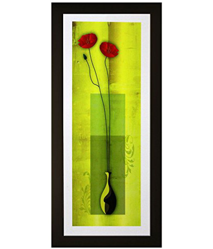 SAF Textured Print with UV Framed Reprint Painting (SANFO638, 15 cm x 3 cm x 38 cm)
