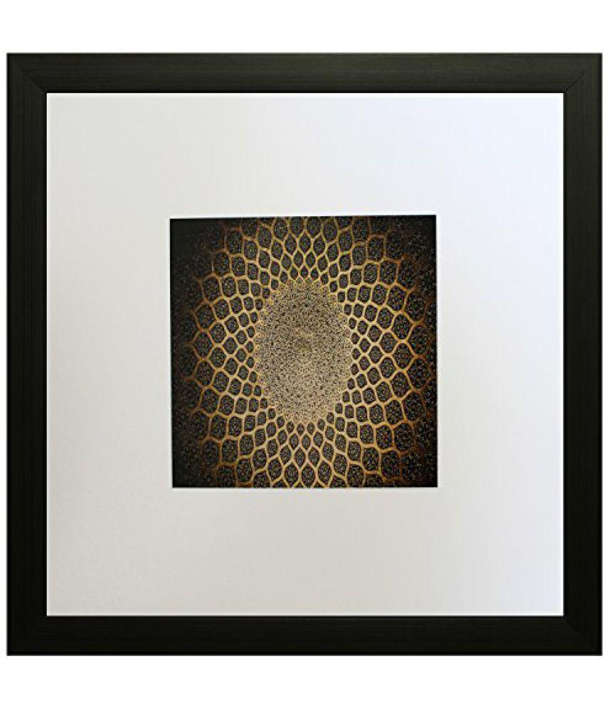 SAF Textured Print with UV Framed Reprint Painting (SANFO461, 25 cm x 3 cm x 25 cm)