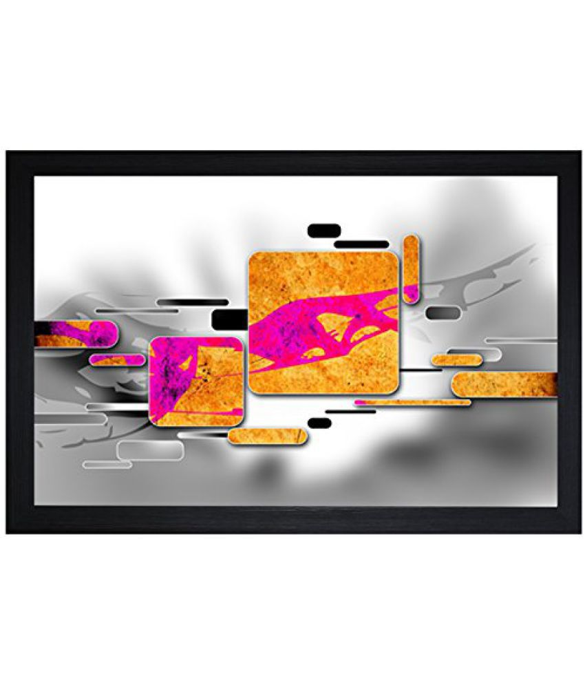 SAF Textured Print with UV Framed Reprint Painting (SANFO724, 30 cm x 3 cm x 45 cm)