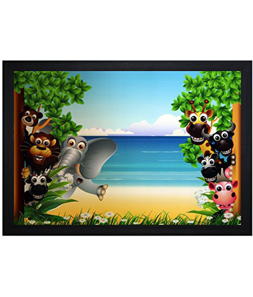 SAF Textured Print with UV Framed Reprint Painting (SANFO677, 30 cm x 3 cm x 45 cm)