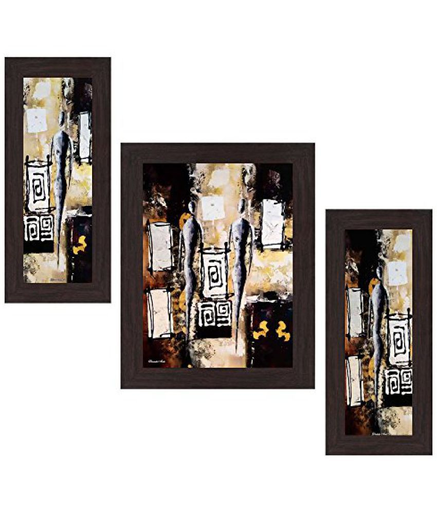 Wens Still Life View MDF Wall Art (14.5 cm x 29 cm x 1 cm, Set of 3)