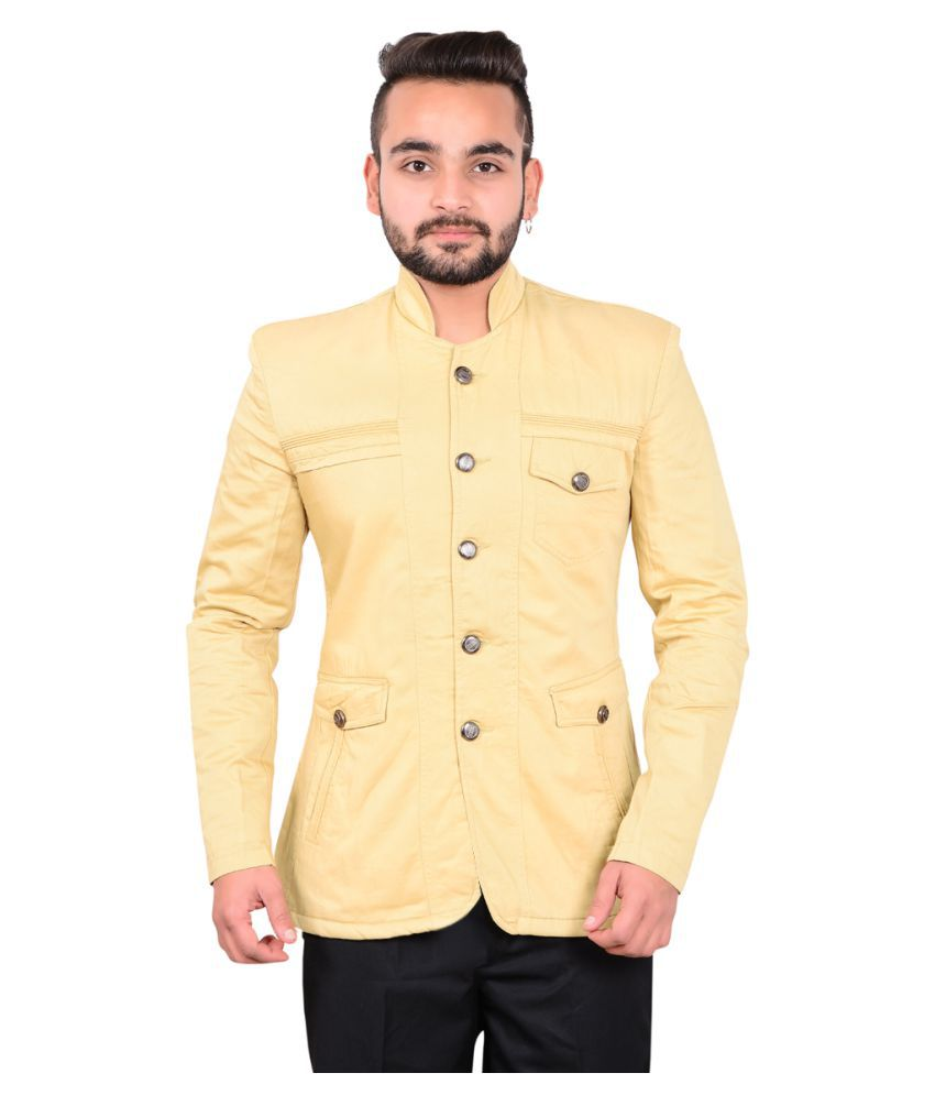 GDS Beige Solid Casual Jackets