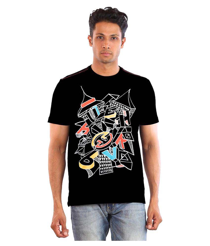 Huetrap Black Round T-Shirt