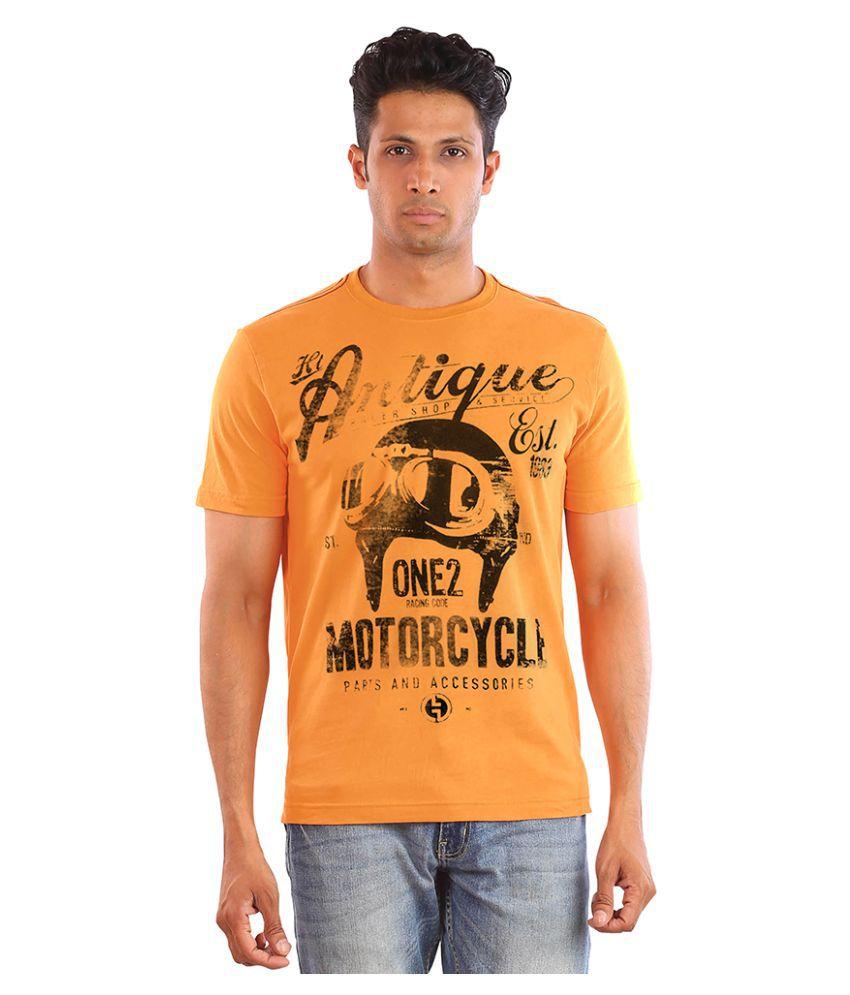 Huetrap Orange Round T-Shirt