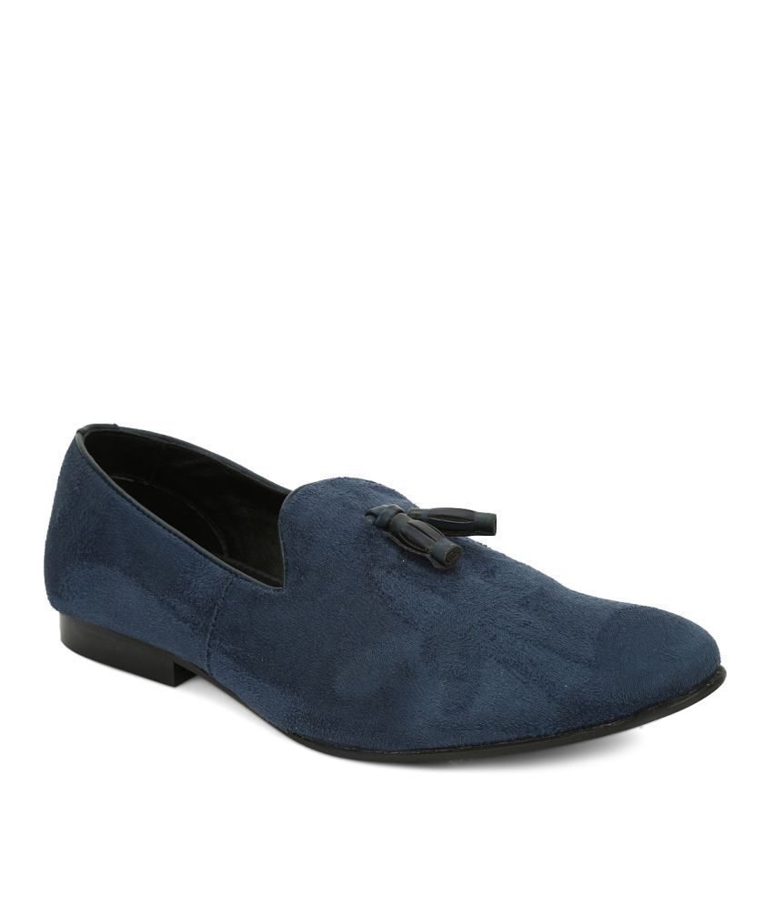 franco blue non leather formal shoes