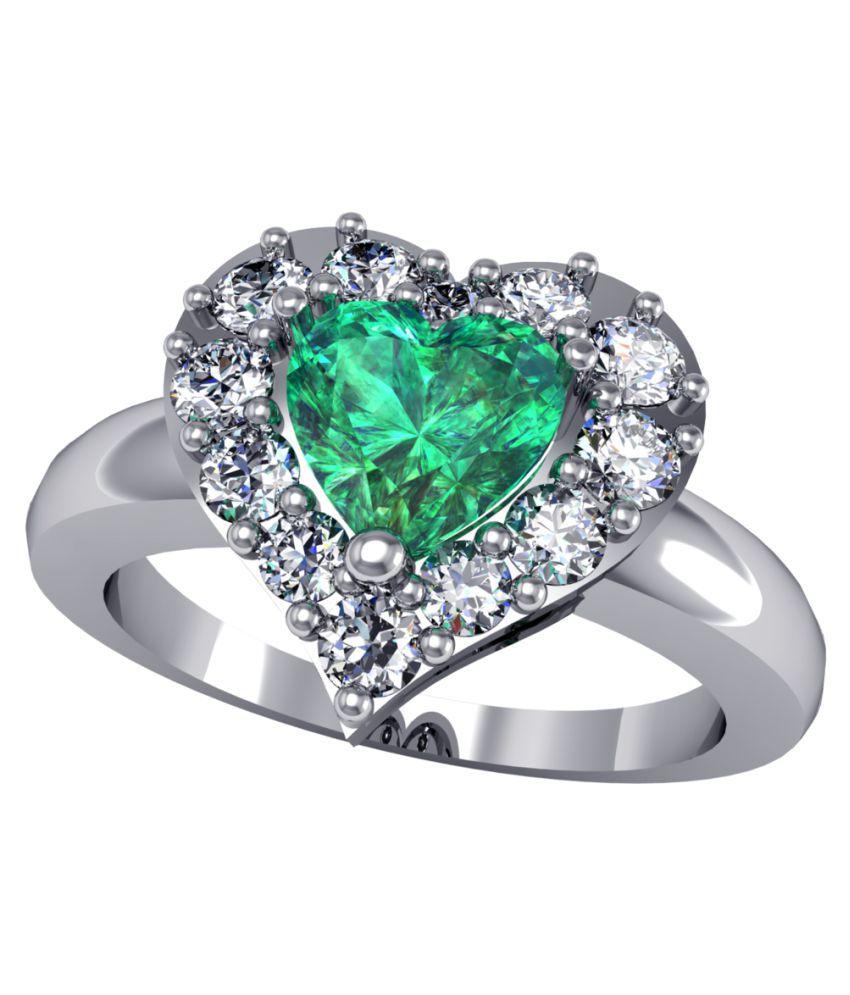 Suvam Jewels 92.5 Silver Swarovski Ring