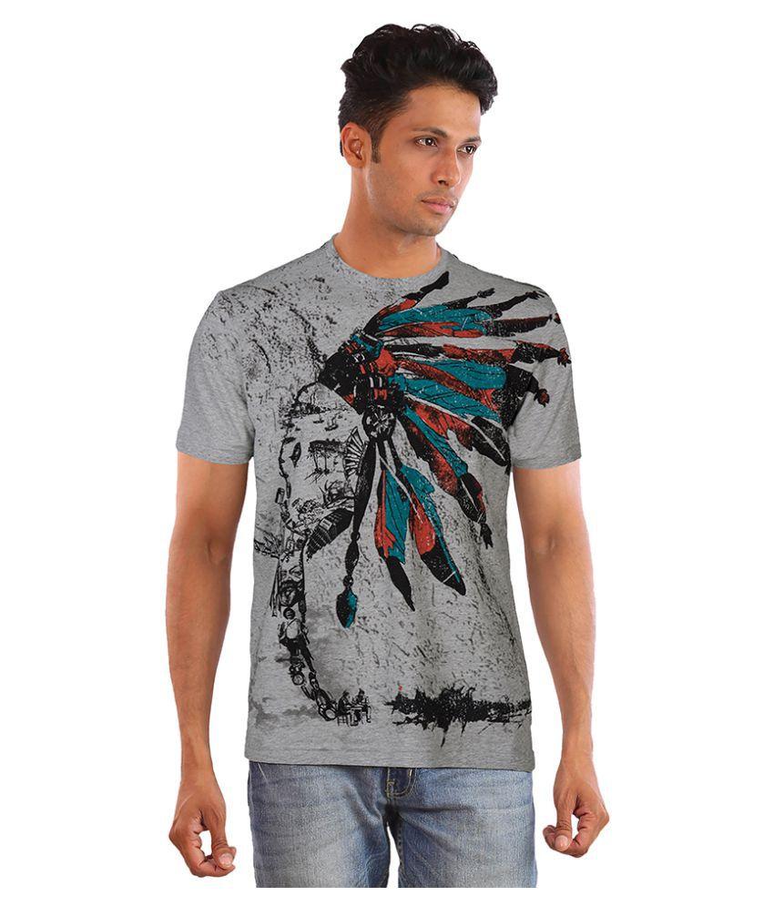 Huetrap Grey Round T-Shirt