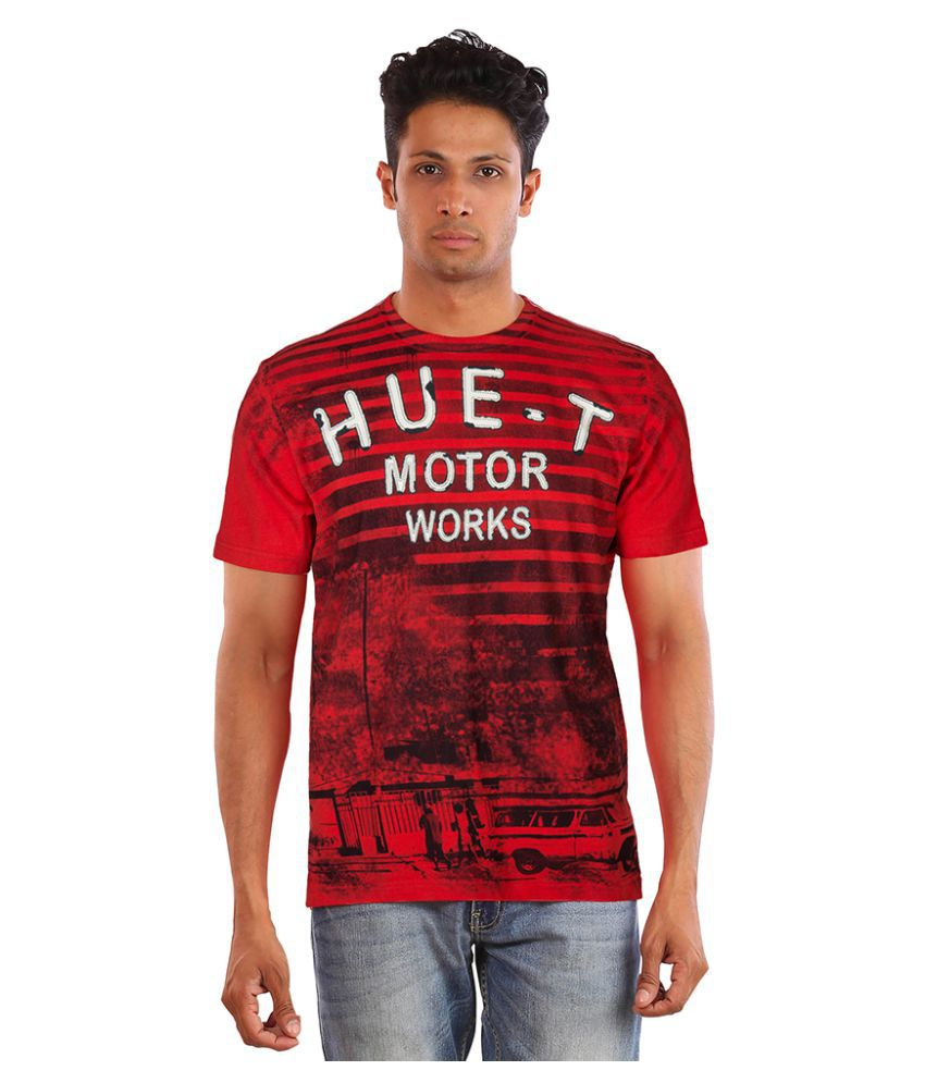 Huetrap Red Round T-Shirt