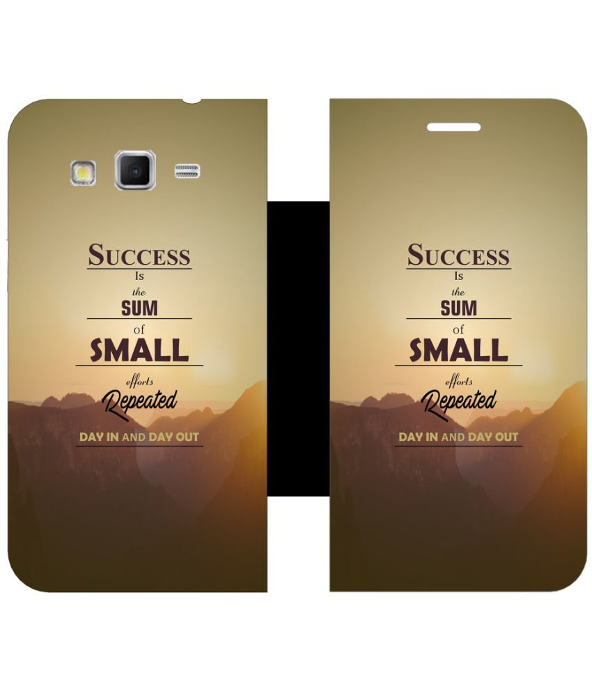 Samsung Galaxy j2 Flip Cover by Skintice - Brown