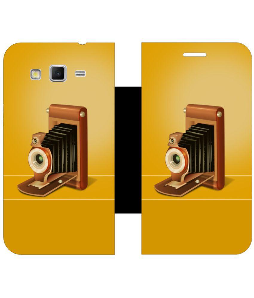Samsung Galaxy j2 Flip Cover by Skintice - Multi