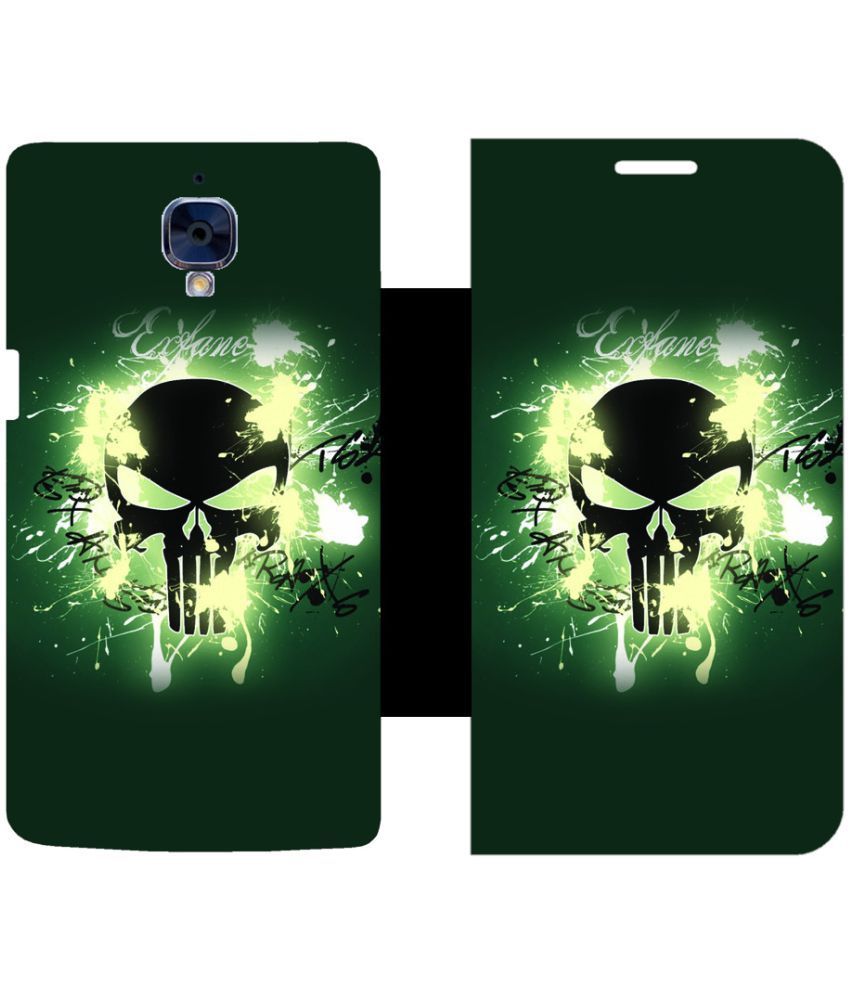 OnePlus 3 Flip Cover by Skintice - Green
