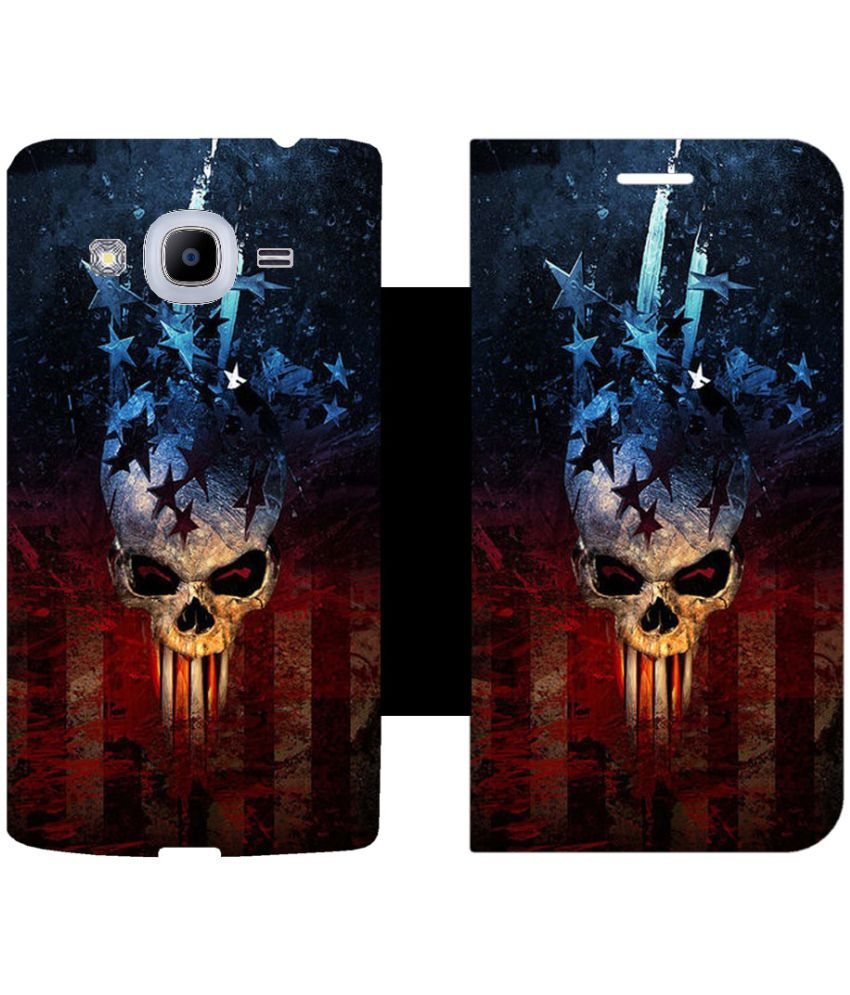 Samsung Galaxy J2 (2016) Flip Cover by Skintice - Brown