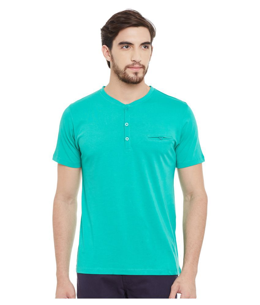 Wineberry Green Henley T-Shirt