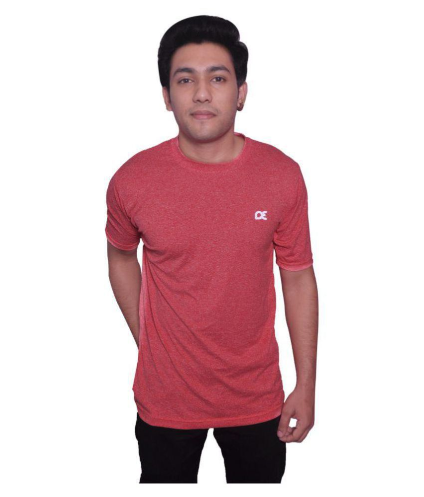 Dyed Colours Red Polyester T-Shirt Single Pack