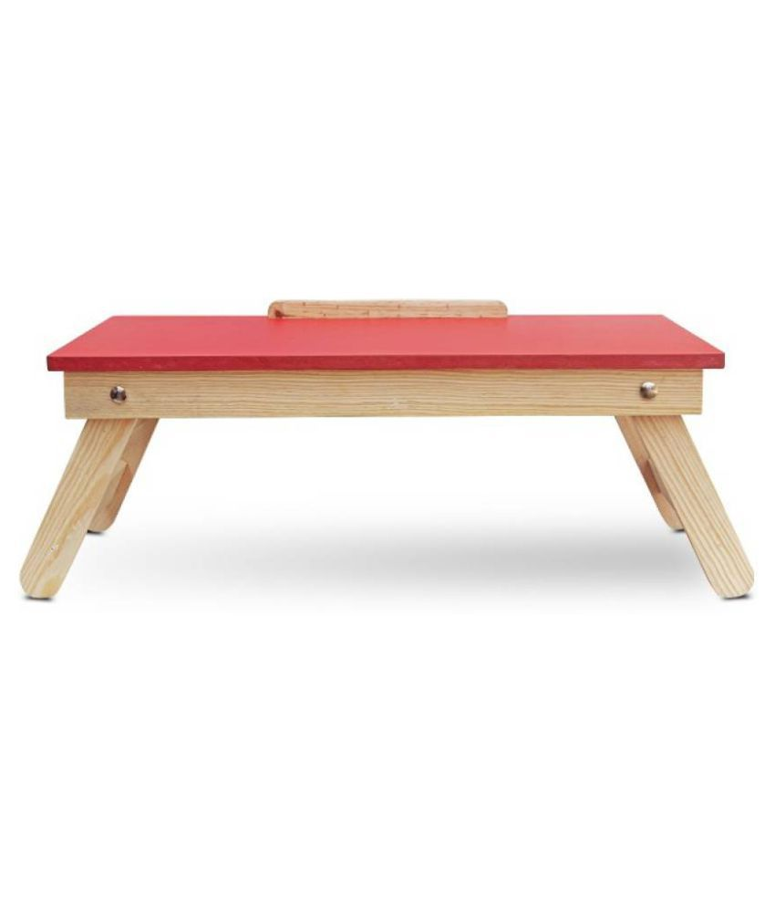 Ibs solid wood portable laptop table finish color red buy ibs solid wood portable laptop table finish color red online at best prices in india on
