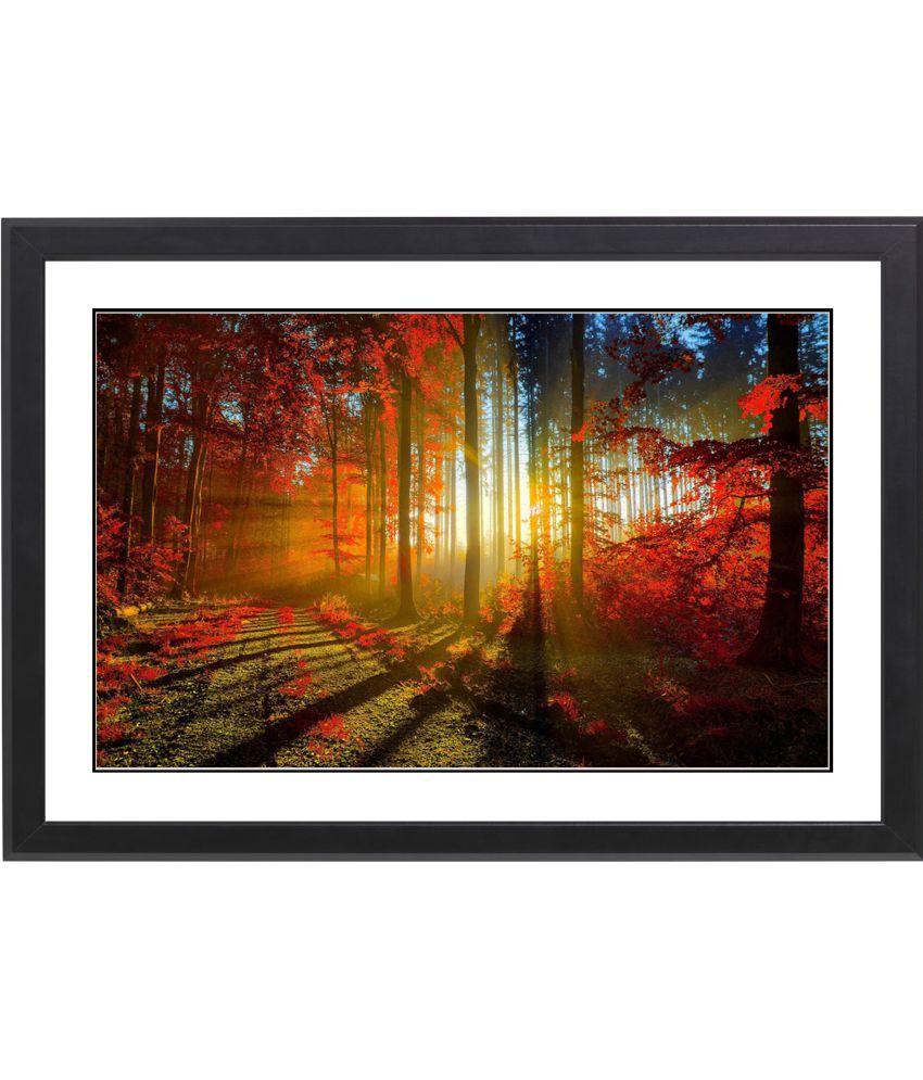 CRAFTSFEST BEAUTIFULL TREE MDF Painting With Frame- (30cmX20cmX1.5cm)