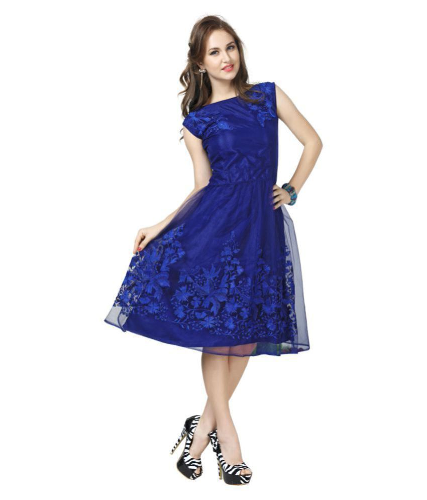 Elevate Women Net A- line Dress